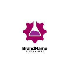 Mechanical laboratory logo design inspiration vector
