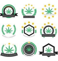 Medical cannabis logo set medical marijuana logo vector
