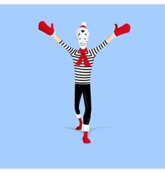 Mime performance - open arms vector