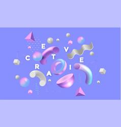 Modern concept be creative 5 vector
