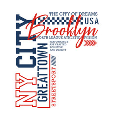 ny city brooklyn sport typography design vector image