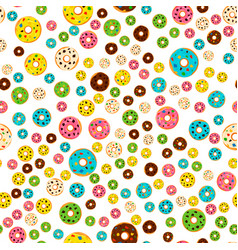 On theme big colored seamless donut pattern vector