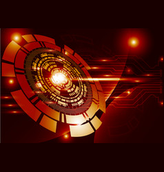 orange technology background abstract digital vector image