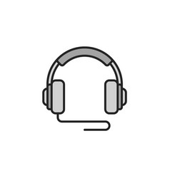 Over-ear wired headphones icon or symbol vector