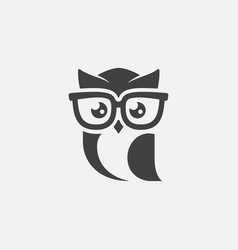 owl logo icon owl sunglasses logo design owl mas vector image