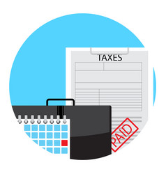 Paid taxes on day of payment vector