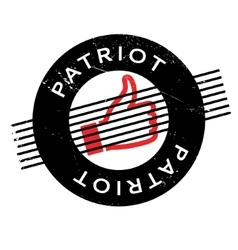 Patriot rubber stamp vector