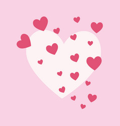pink hearts design vector image