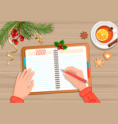 planning 2020 yearnew year with changes vector image