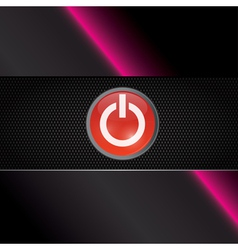 Power red shiny button vector image