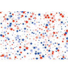 presidents day in usa red blue and white stars vector image