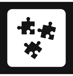 Puzzles icon in simple style vector image