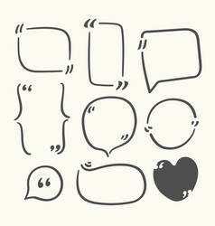 Quote bubbles clipart empty frames for messages vector