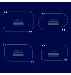 Quote Bubbles Empty Templates on Blue Background vector
