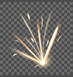 realistic detailed 3d fire spark on a transparent vector image