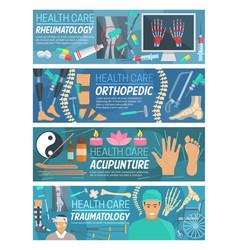 Rheumatology orthopedic traumatology doctors vector