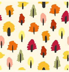 Seamless autumn forest print vector