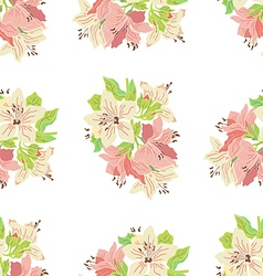 Seamless pattern with lily vector image