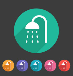 shower douche icon flat web sign symbol logo label vector image