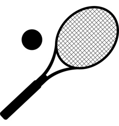 silhouette of tennis racket vector image