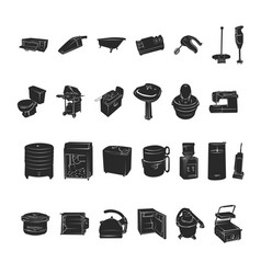 silhouettes home appliances vector image