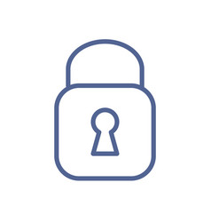 simple lock icon in line art style closed padlock vector image