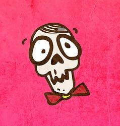 Skull with a Bowtie Cartoon vector image