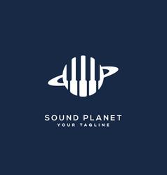 Sound planet logo vector