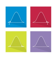 Standard Normal Distribution Curve Chart vector