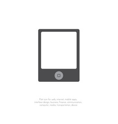 tablet icon flat design style 111 vector image