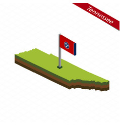 Tennessee isometric map and flag vector