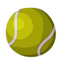 tennis ball fitness and sport equipment vector image