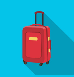 travel luggage icon in flat style isolated on vector image