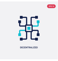 two color decentralized icon from cryptocurrency vector image
