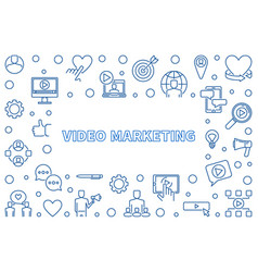 video marketing linear vector image
