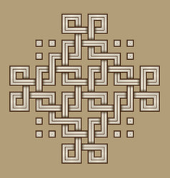 viking decoration knot - engraved - chain squares vector image