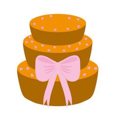 Wedding cake icon vector