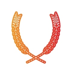 Wheat sign Orange applique isolated vector image