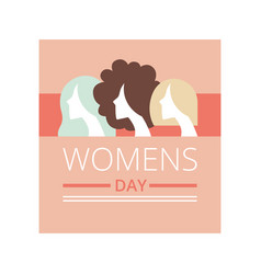 Womens day greeting card party invitation vector