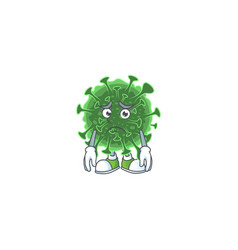 Wuhan coronavirus mascot design with worried face vector