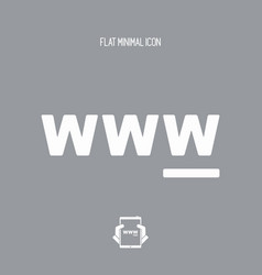 www flat single icon vector image
