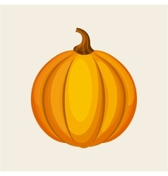 Yellow pumpkin icon vector