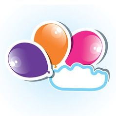 colorful paper balloons with copyspace vector image