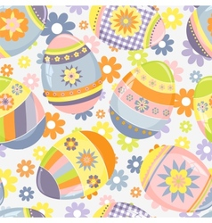 Cute Easter pattern vector image vector image