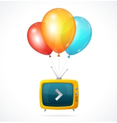 fly Tv and ballons vector image vector image