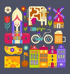 Holland Symbols vector image