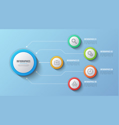 5 options infographic design structure vector image vector image