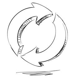 Arrows repeat restore sign vector