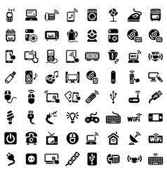 big electronic devices icons set vector image vector image