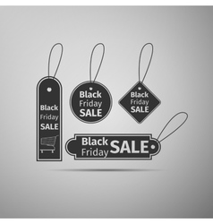 Black Friday sales tag flat icon on grey vector image vector image